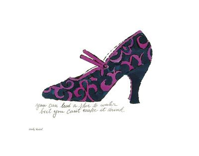 A La Recherche du Shoe Perdu, 1955 (Blue & Pink Shoe) Posters by Andy Warhol