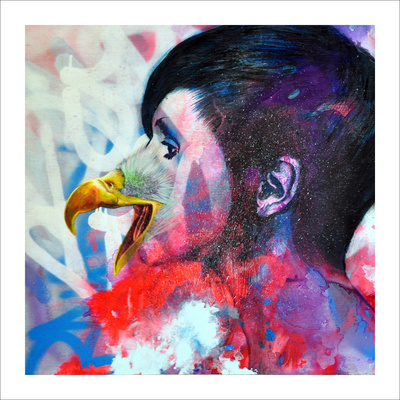 You Are an Eagle Collectable Print by Shark Toof