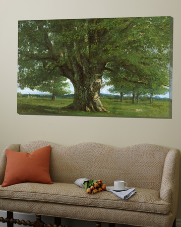 The Oak of Flagey, Called Vercingetorix Art by Gustave Courbet