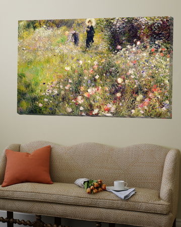 Summer Landscape Art by Pierre-Auguste Renoir
