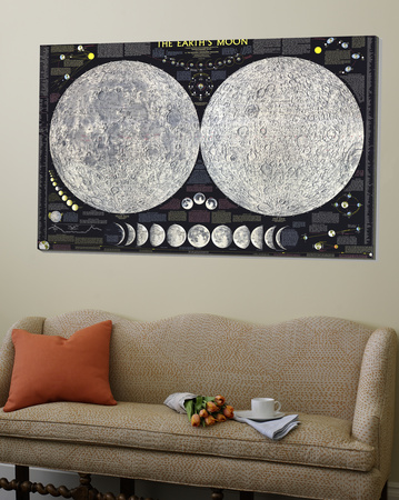 Earths Moon Map 1969 Posters
