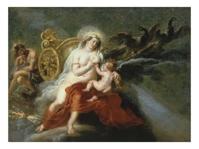 The Birth of the Milky Way with Juno Breastfeeding Baby Hercules, 1636-37 Giclee Print by Sir Peter Paul Rubens