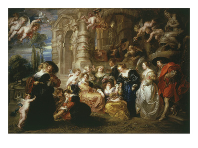 The Garden of Love 1633 198X173Cm Giclee Print by Sir Peter Paul Rubens