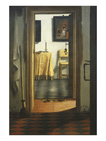 Les Pantoufles, the Slippers, or Interior View Premium Giclee Print by Samuel van Hoogstraaten