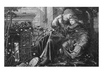 Love Among the Ruins, 1894, Engraved by M Dormoy Premium Giclee Print by Edward Burne-Jones