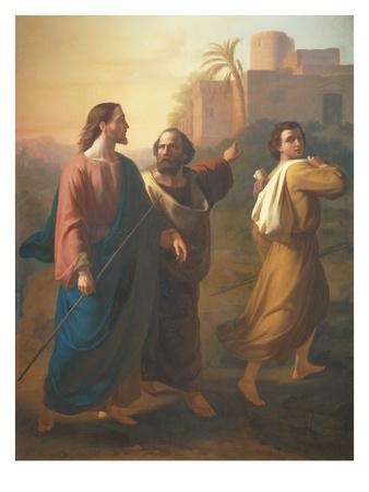 The Travellers at Emmaus, 1857 Premium Giclee Print by Ramon Sagredo