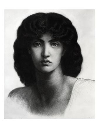Study for Astarte Syriaca, Model Jane Morris, Pencil, 1875 Premium Giclee Print by Dante Gabriel Rossetti