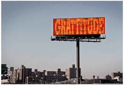 Gratitude Billboard in NYC Posters