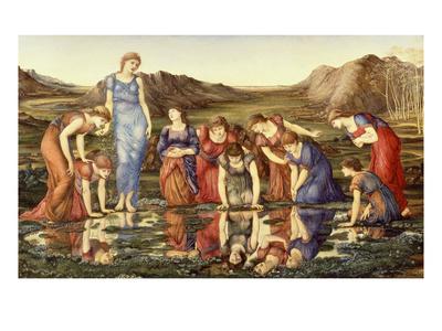 The Mirror of Venus Premium Giclee Print by Edward Burne-Jones