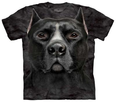 Black Pitbull Head T-Shirt