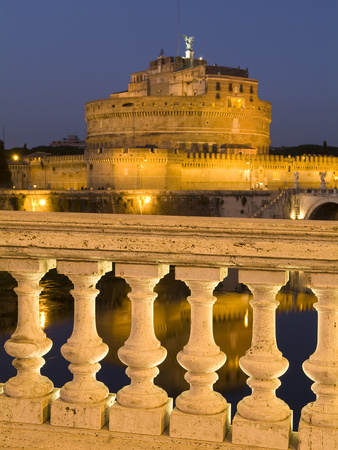 Castel Sant'Angelo on the Tiber Photographic Print by Daniella Nowitz