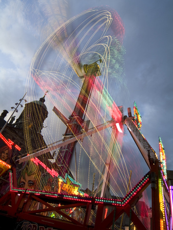 An Amusement Park Ride in Dam Square Photographic Print by Daniella Nowitz