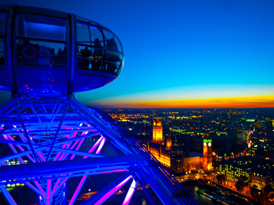 London Sky Line at Sunset from London Eye Photographic Print by Jorge Fajl