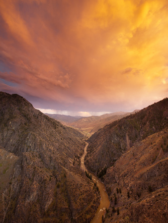 A Thunder Cloud Passes over the Middle Fork of the Salmon River Photographic Print by Michael Melford