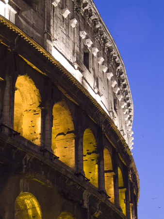 The Exterior of the Colosseum at Dusk Photographic Print by Daniella Nowitz