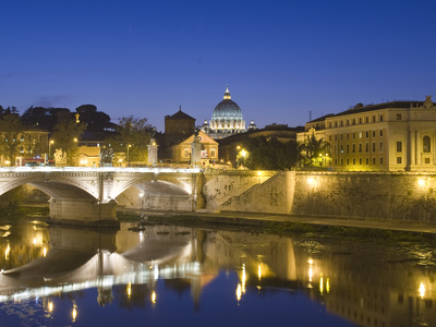 Saint Peter's Basilica and Ponte Vittorio Emmanuele Ii over the Tiber Photographic Print by Daniella Nowitz