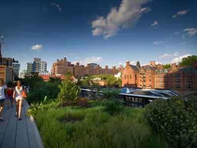 People Walking in New York's High Line Photographic Print by Jorge Fajl