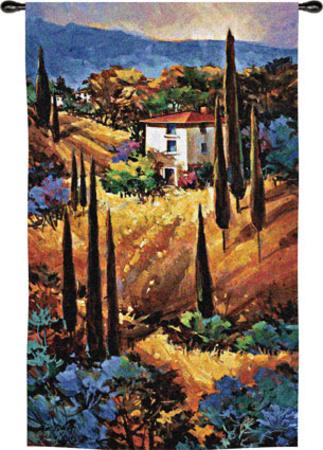 Tuscany Blue タペストリー : ナンシー・オトゥール