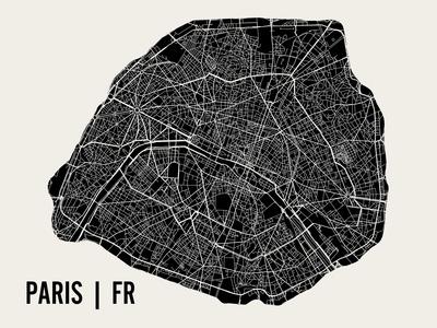 Paris Prints by  Mr City Printing