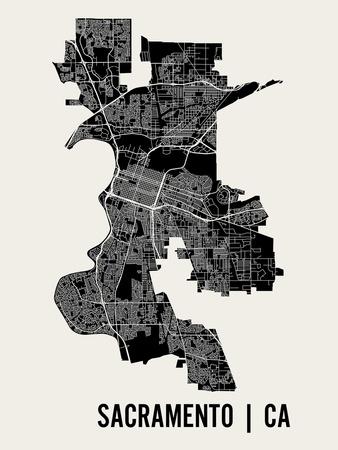 Sacramento Poster by  Mr City Printing