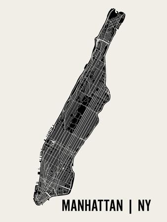 Manhattan Prints by  Mr City Printing