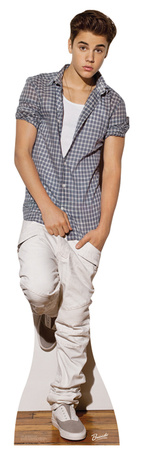 Justin Bieber (Check Shirt) Pappfigurer