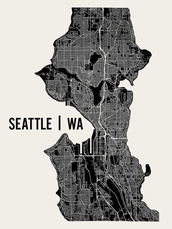 Seattle Prints by  Mr City Printing