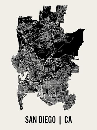 San Diego Prints by  Mr City Printing