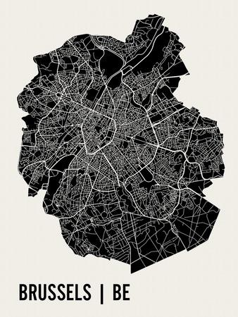 Brussels Prints by  Mr City Printing