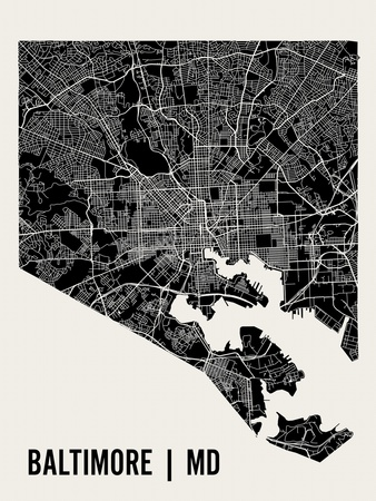 Baltimore Posters by  Mr City Printing