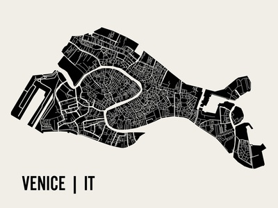 Venice Poster by  Mr City Printing