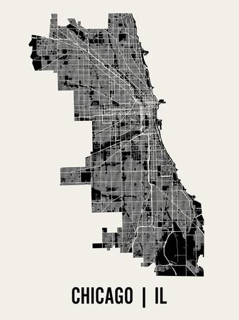 Chicago Print by  Mr City Printing