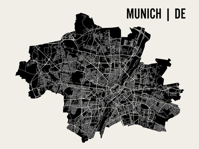 Munich Prints by  Mr City Printing