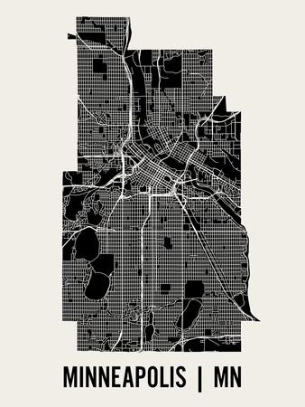 Minneapolis Art by  Mr City Printing