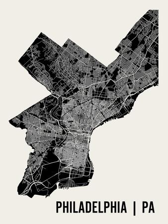 Philadelphia Print by  Mr City Printing