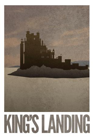 King's Landing Retro Travel Poster Prints