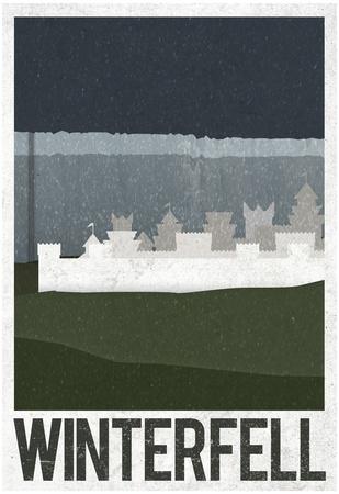 Winterfell Retro Travel Poster Print