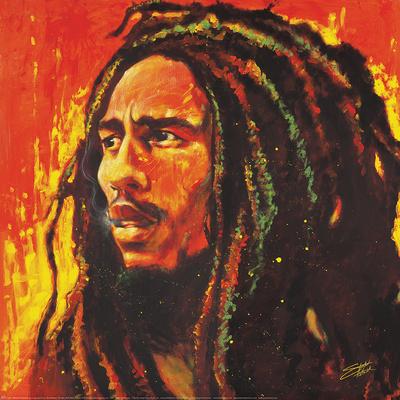 Stephen Fishwick- Bob Marley Poster by Stephen Fishwick