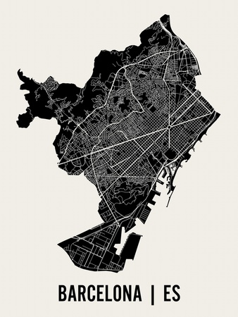 Barcelona Prints by  Mr City Printing