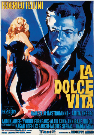 La Dolce Vita - Vintage Style Italian Poster ポスター