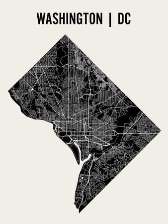 Washington DC Print by  Mr City Printing