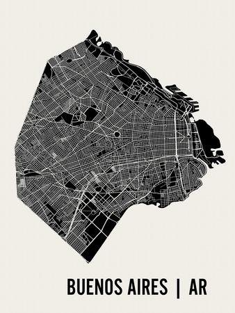 Buenos Aires Poster af  Mr City Printing