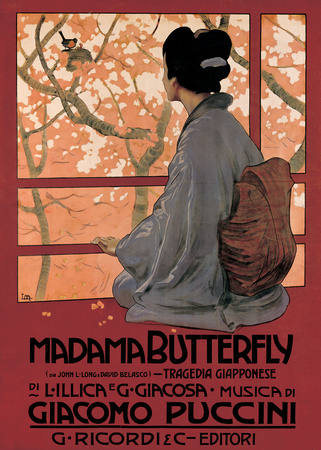 Madam Butterfly (G. Puccini) - Vintage Style Opera Poster Poster