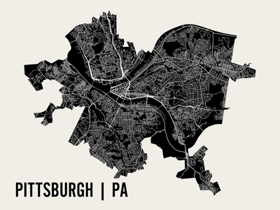 Pittsburgh Posters by  Mr City Printing