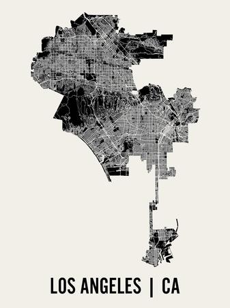 Los Angeles Print by  Mr City Printing