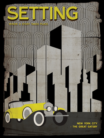 Setting (Great Gatsby) - Element of a Novel Art by Christopher Rice