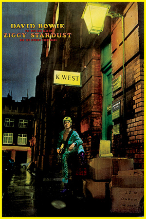 David Bowie Ziggy Stardust Music Cover Art poster