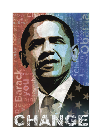 Obama: Change Giclee Print by Keith Mallett