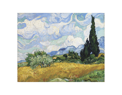 Wheat Field with Cypresses, 1889 Posters by Vincent van Gogh