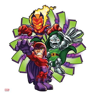 Marvel Super Hero Squad: Dormammu, Magneto, and Dr. Doom Posing Otro